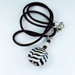 Zebra Safari Pendant - Dragon Fire Beads Online