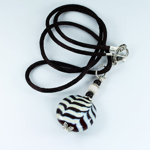 Zebra Safari Pendant Pendants - Dragon Fire Beads Online