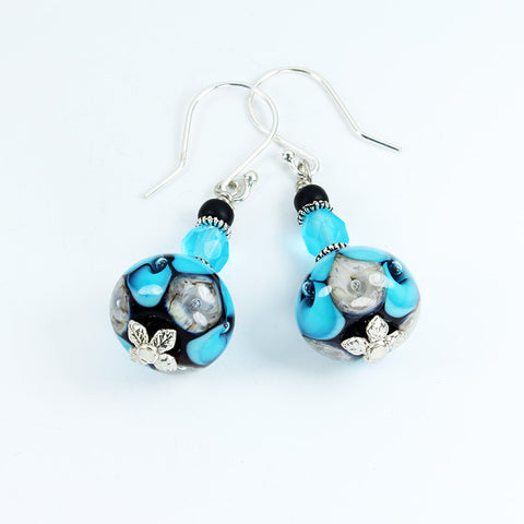 Seaviolet Turquoise  Earrings Earrings - Dragon Fire Beads Online