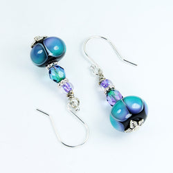 Rainbow Dots Earrings - Dragon Fire Beads Online