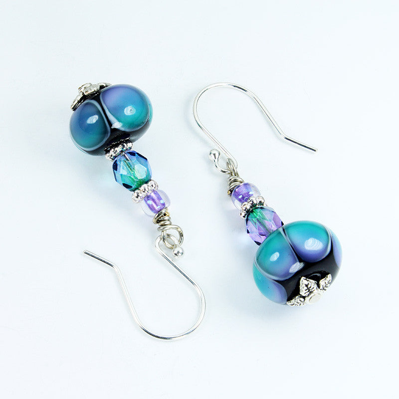 Rainbow Dots Earrings Earrings - Dragon Fire Beads Online