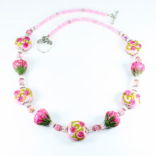 Protea & Rose Flower Necklace Necklaces - Dragon Fire Beads Online