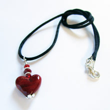 Red Heart Pendant Pendants - Dragon Fire Beads Online