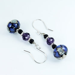 Seaviolet Purple Sea Earrings Earrings - Dragon Fire Beads Online