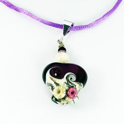 Seaside Purple Sea Pendant - Dragon Fire Beads Online