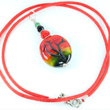 African Sunset Landscape Pendant Pendants - Dragon Fire Beads Online