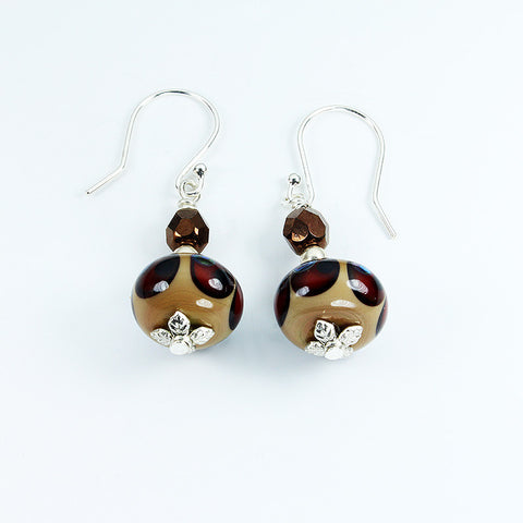 Bushbaby Eyes Safari Earrings Earrings - Dragon Fire Beads Online