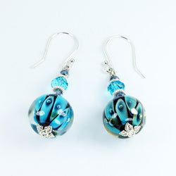 Mermaid's Eyes Turquoise Sea Earrings Earrings - Dragon Fire Beads Online