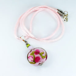Rose Flower Pendant - Dragon Fire Beads Online
