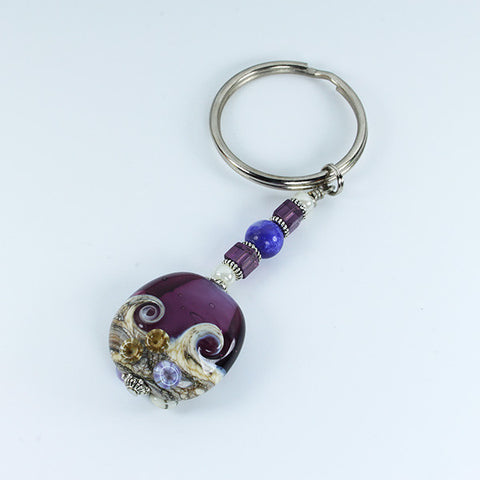 Seaside Purple Sea Keyring Accessories - Dragon Fire Beads Online