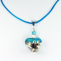 Seaside Turquoise Sea Pendant - Dragon Fire Beads Online