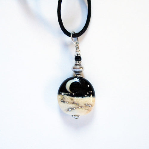 Starry Night Pendant Pendants - Dragon Fire Beads Online