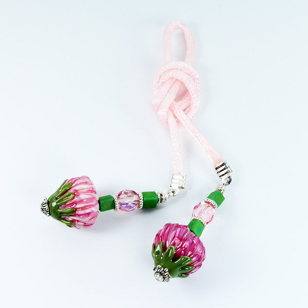 Protea Flower Bookmark - Dragon Fire Beads Online