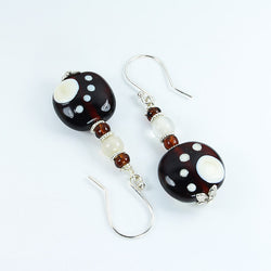 Pawprint Black Safari Earrings - Dragon Fire Beads Online