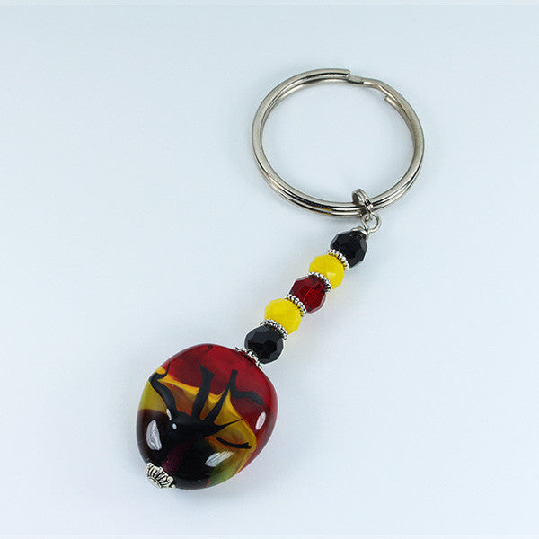 African Sunset Keyring Accessories - Dragon Fire Beads Online