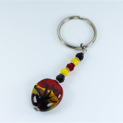 African Sunset Landscape Keyring Accessories - Dragon Fire Beads Online