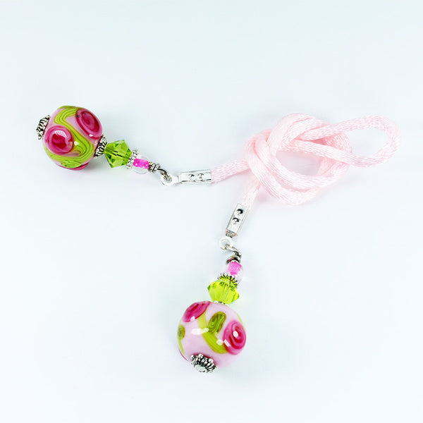 Rose Flower Bookmark - Dragon Fire Beads Online