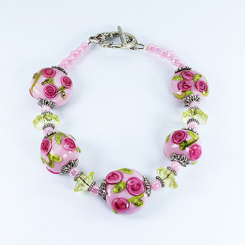 Rose Flower Bracelet Bracelets - Dragon Fire Beads Online