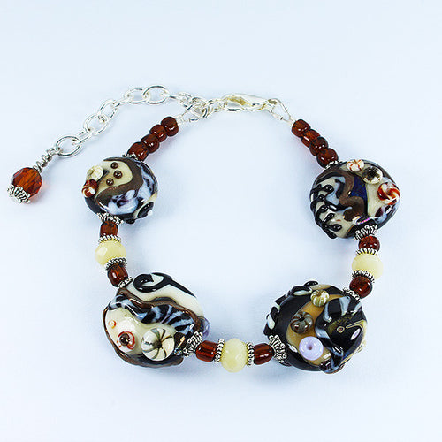 Sea Fossil Bracelet Bracelets - Dragon Fire Beads Online