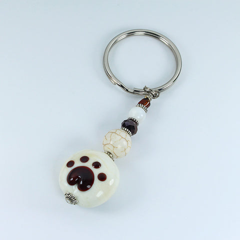 Pawprint Safari Keyring Accessories - Dragon Fire Beads Online