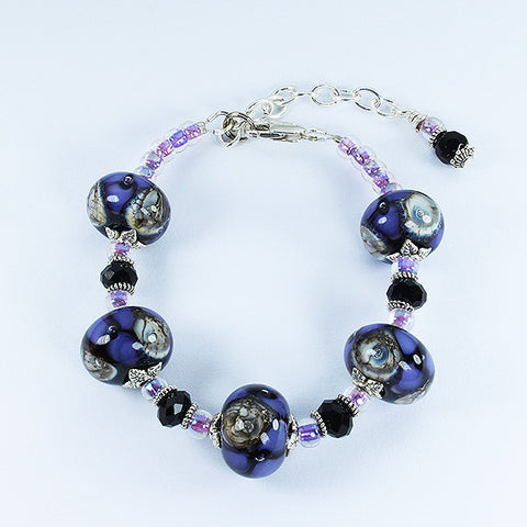 Seaviolet Purple Bracelet Bracelets - Dragon Fire Beads Online