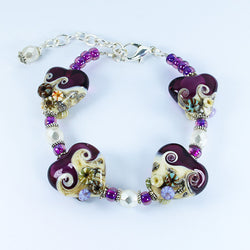 Seaside Purple Bracelet Bracelets - Dragon Fire Beads Online
