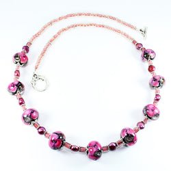 Seaviolet Pink Sea Necklace Necklaces - Dragon Fire Beads Online