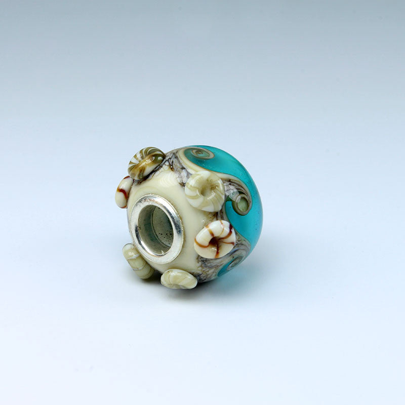 Seaside Turquoise Annabella Bead Annabella Beads - Dragon Fire Beads Online