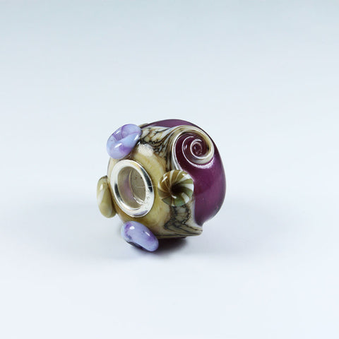 Ocean Purple Annabella Bead Annabella Beads - Dragon Fire Beads Online