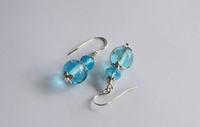 Bombay Gin Glass Earrings  - Dragon Fire Beads Online