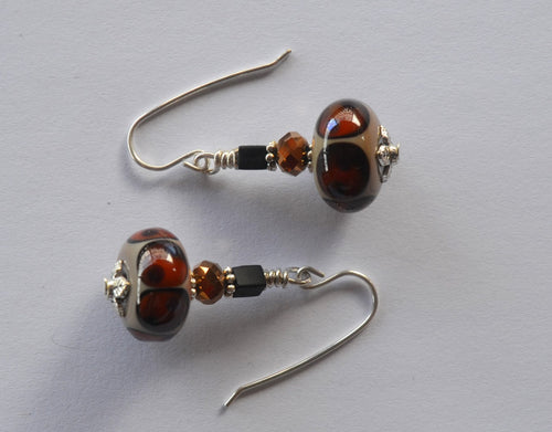 Bushbaby Eyes Earrings Earrings - Dragon Fire Beads Online