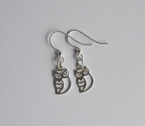 Sterling Silver Owl Earrings  - Dragon Fire Beads Online