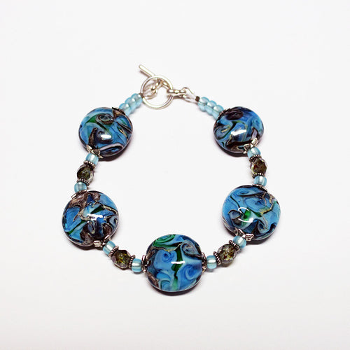 Peacock Feather Bracelet Bracelets - Dragon Fire Beads Online