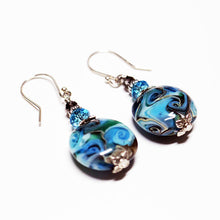 Peacock Feather Earrings Earrings - Dragon Fire Beads Online