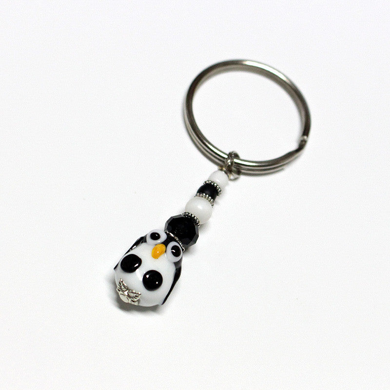 Penguin Key Ring Accessories - Dragon Fire Beads Online