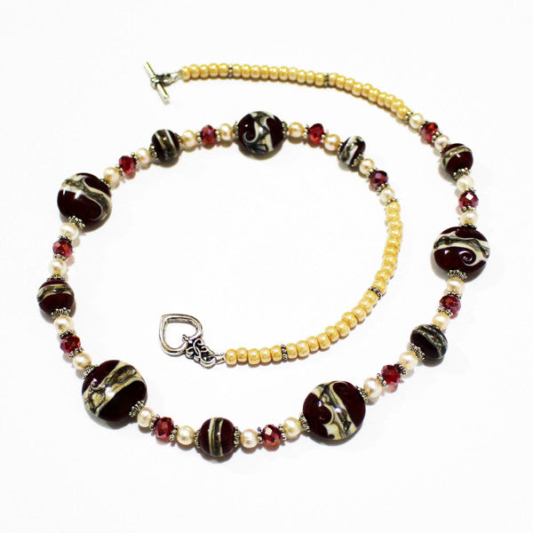 Red Storm Necklace Necklaces - Dragon Fire Beads Online