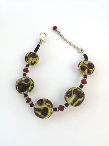 Red Poppy Necklace Bracelet