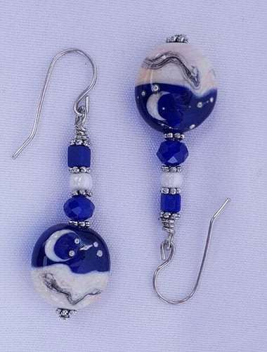 Starry Starry Night Earrings blue