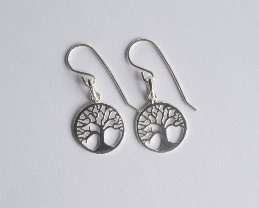 Tree of Life Sterling Silver Earrings  - Dragon Fire Beads Online