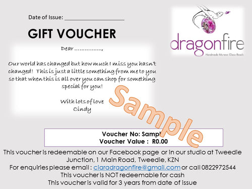 Give the Gift of Choice with a Voucher  - Dragon Fire Beads Online