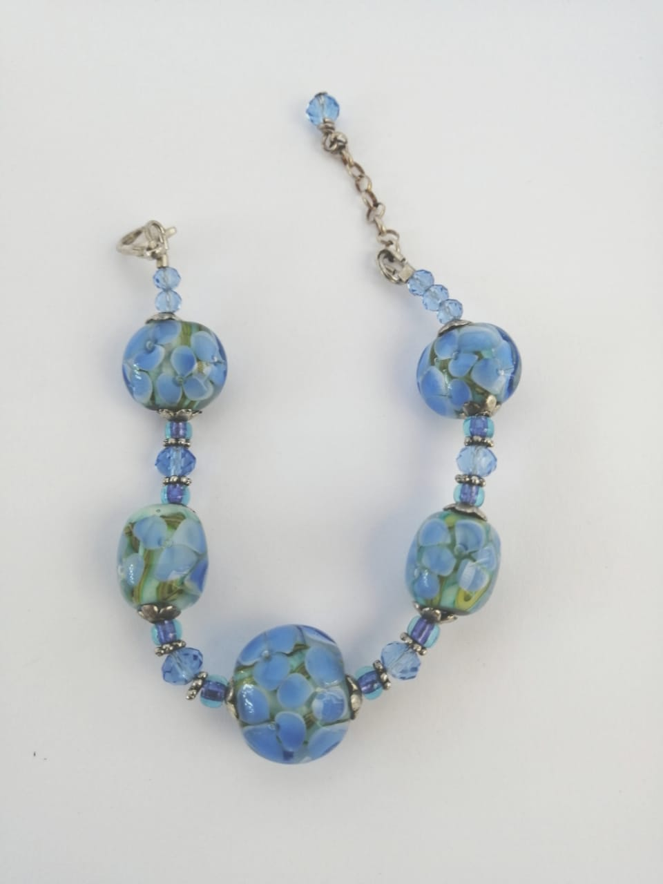 Waterlily Blue Bracelet