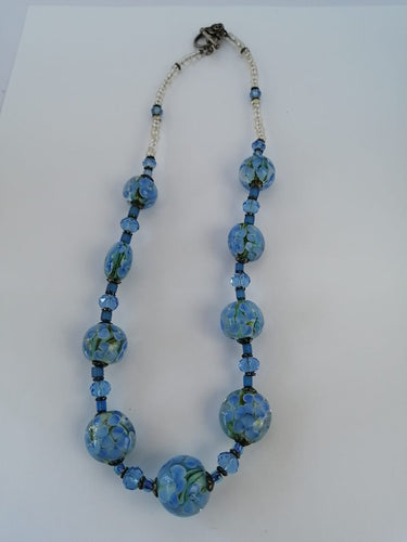 Waterlily Blue Necklace