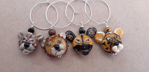 Animal Wine Glass Charms Accessories - Dragon Fire Beads Online