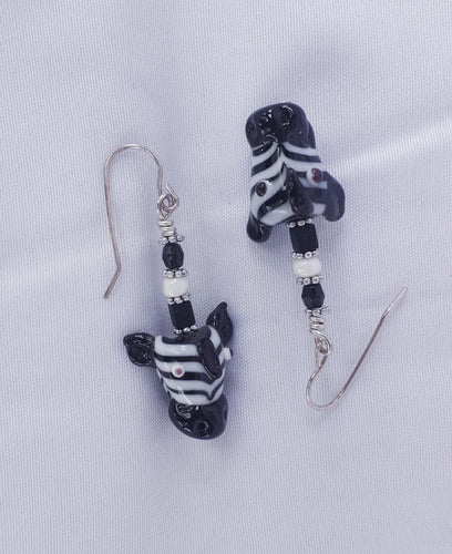 Zebra Heads Earrings
