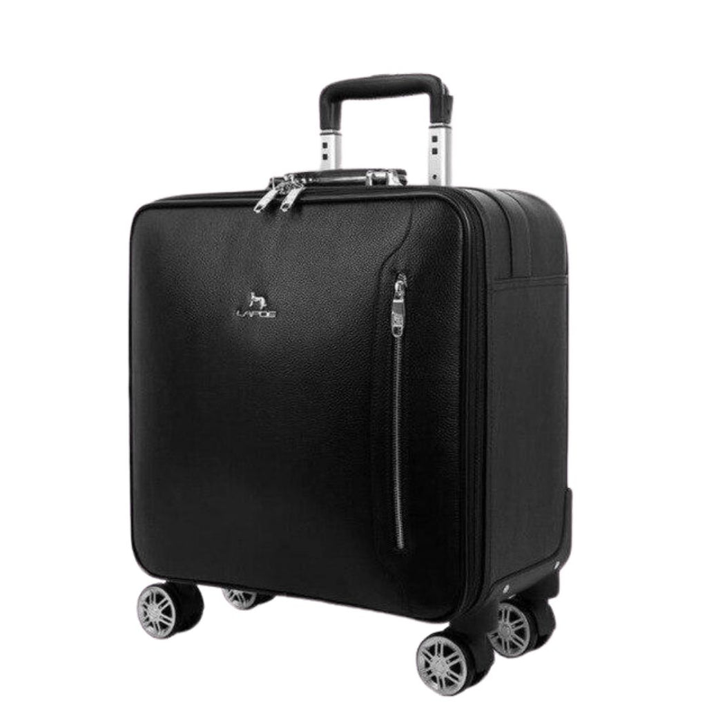 Lapoe Leather Carry On Luggage