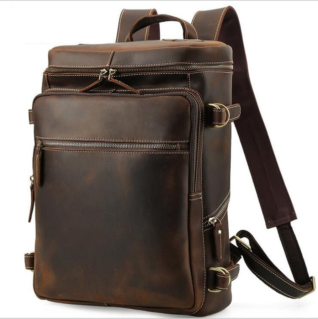 Sacado Leather Backpack for Men