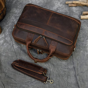 Leather Briefcase for men from Dixvitas