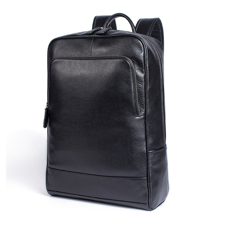 Leather backpack Dixvitas for men and women