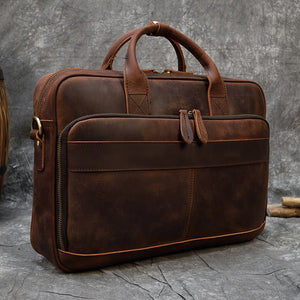 Fati Leather Briefcase for men from Dixvitas