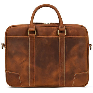 best leather laptop bag for men and professionals Dixvitas